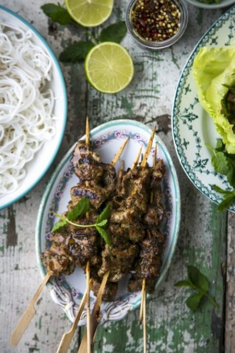 Bun Cha Pork | DonalSkehan.com,  A great snack or light lunch.