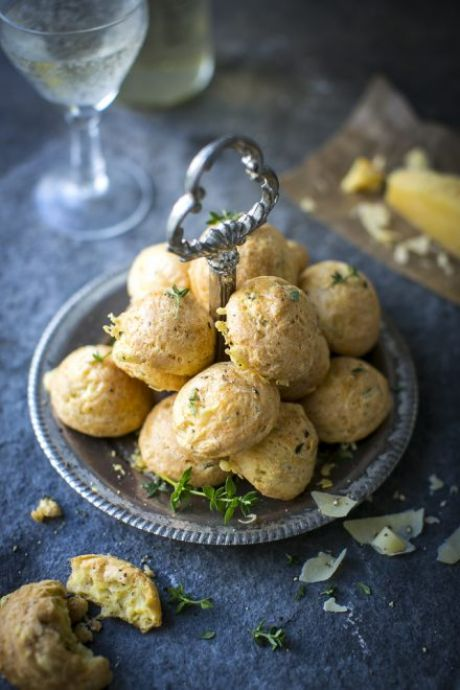 Irish Cheddar & Thyme Gougeres | DonalSkehan.com, Perfect festive dinner party nibbles!