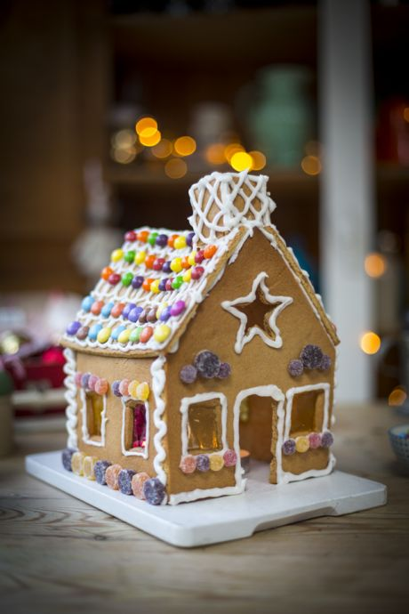Gingerbread House   DonalSkehan.com, This traditional gingerbread house recipe doubles up as a gorgeous decoration and a delicious treat!
