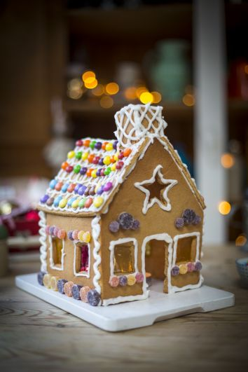 Gingerbread House | DonalSkehan.com, This traditional gingerbread house recipe doubles up as a gorgeous decoration and a delicious treat!