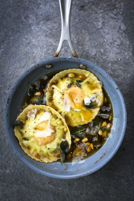Hidden Egg Yolk Ravioli | DonalSkehan.com, Novelty or not, this is ravioli with a difference.