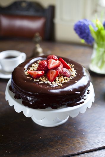 Dark Chocolate Hazelnut Mud Pie | DonalSkehan.com, Perfect way to finish off a dinner party.