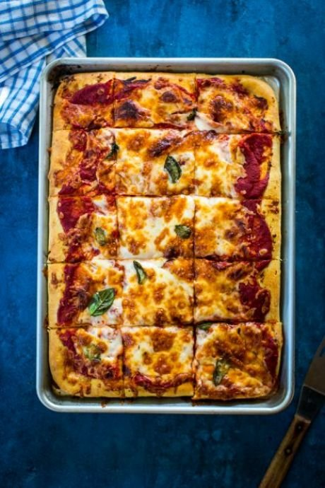 Tomato & Mozzarella Foccacia Bread | DonalSkehan.com, A basic bread dough with amazing toppings!