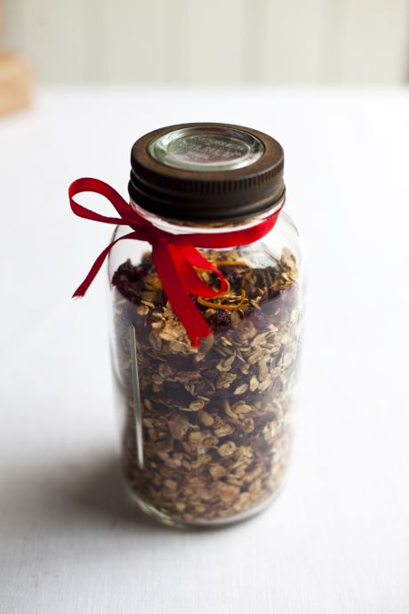 Christmas Chocolate, Orange and Cranberry Granola | DonalSkehan.com, Perfect to give as a gift or just to enjoy yourself!