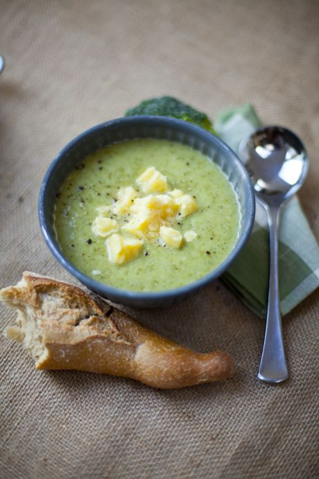 Broccoli and Cheddar Cheese Soup | DonalSkehan.com, Perfect for using up odds and ends left in the fridge!