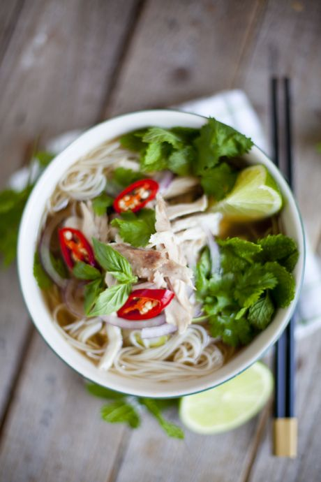 Vietnamese Chicken Noodle Soup | DonalSkehan.com, A healthy Asian soup, packed full of flavour!