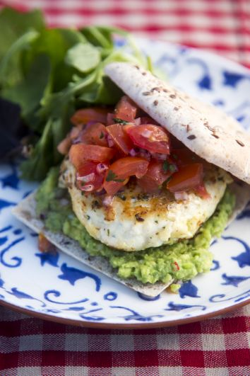 Fish Burgers with Tomato Salsa & Guacamole | DonalSkehan.com, Perfect way to add more fish to your diet.