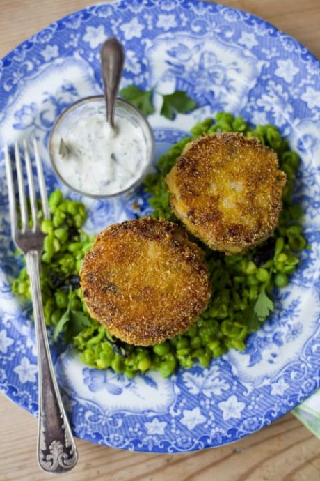 Smoky Fish Cakes with Minty Peas and Tartare Sauce | DonalSkehan.com, Makes a fantastic light meal or starter.