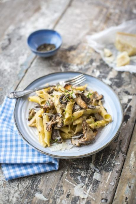 Fuzi Pasta with a Creamy Mushroom Sauce | DonalSkehan.com, Taking simple pasta up a notch!