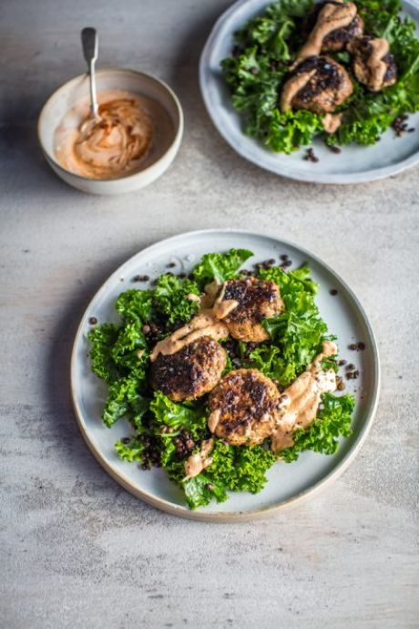 Harissa Lamb & Lentil Salad with Whipped Feta | DonalSkehan.com