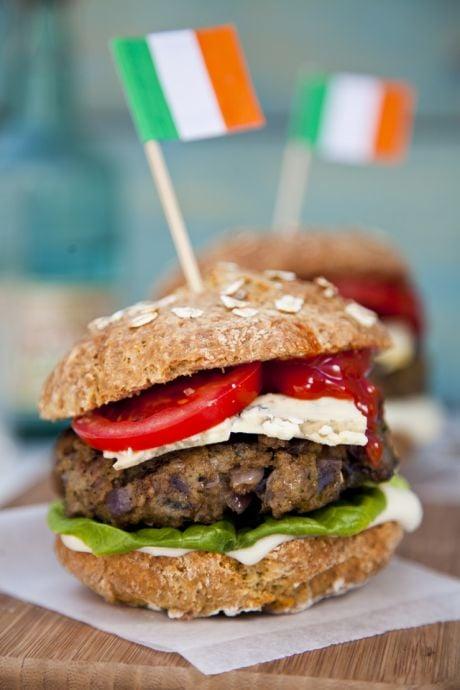 Irish Blue Cheese Burgers with Soda Bread Baps | DonalSkehan.com, A classic cheese burger with an Irish twist.