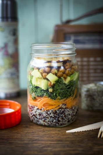 Healthy Jar Salad   DonalSkehan.com, Great for lunch on the go!