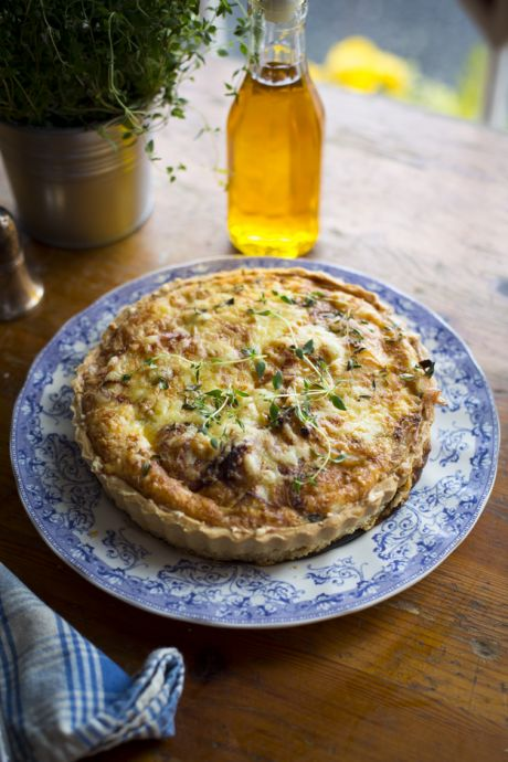 Potato, Cheese & Onion Tart | DonalSkehan.com, Perfect for sharing with friends & family!