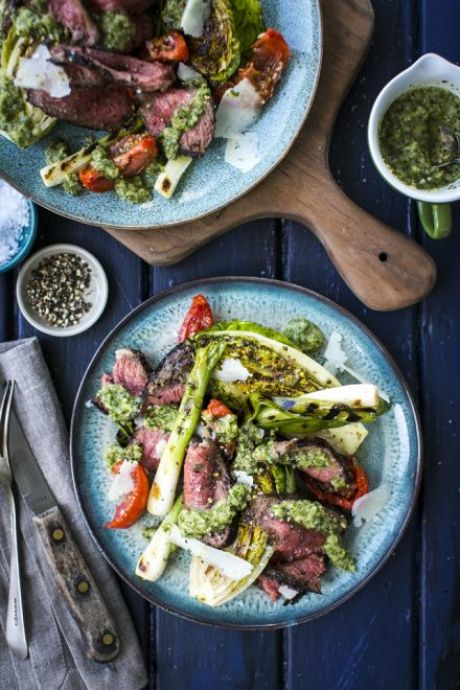 Griddled Skirt Steak with ChimmiChurri Sauce | DonalSkehan.com, Try cooking this tender cut on the BBQ for the ultimate alfresco dining experience.