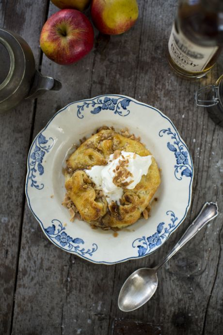Apple Frangipane Tart with Apple Brandy Syrup | DonalSkehan.com, A comforting, Autumnal dessert to enjoy in the colder months.