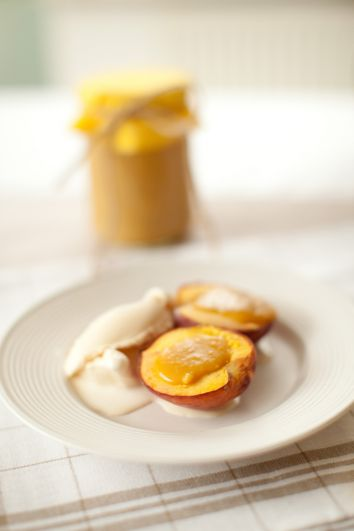 Grilled Peaches with Lemon Butter | DonalSkehan.com, Grilled summer fruit is a real treat & well worth trying!