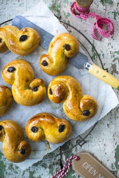 Saffron Lucia Buns | DonalSkehan.com, A classic Swedish Christmas baking recipe.