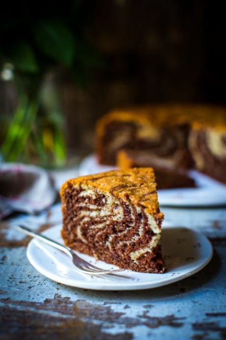 Zebra Cake | DonalSkehan.com, A chocolate and vanilla cake with a difference.