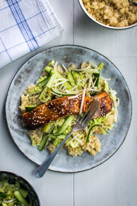 Private: Miso Salmon with Smacked Cucumber | DonalSkehan.com, You are in for an Asian treat for dinner tonight!