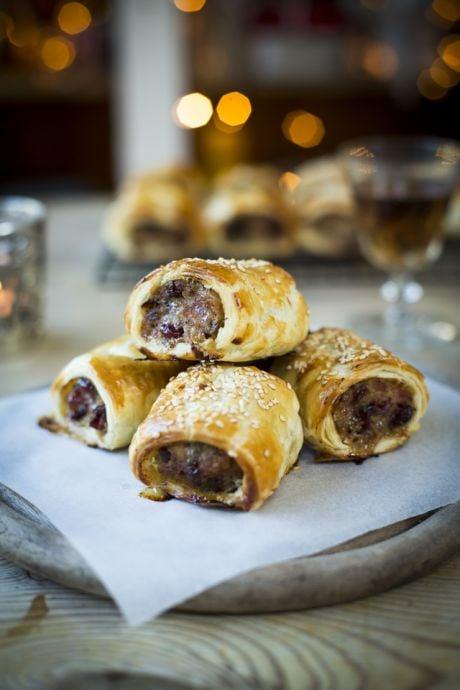 Cranberry Sausage Rolls | DonalSkehan.com, The perfect festive canapé!