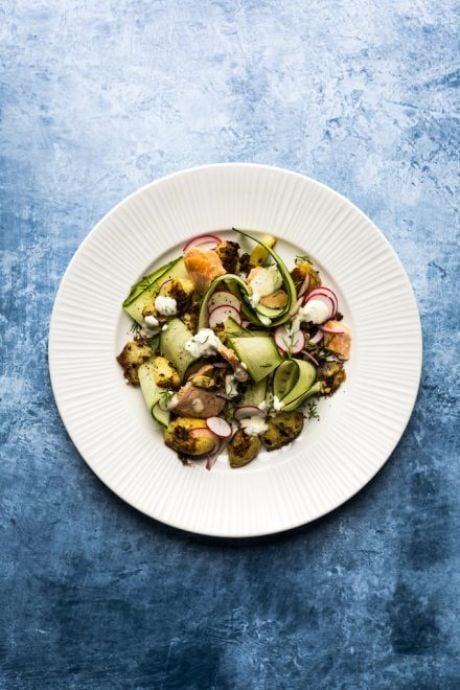Scandi Salmon and Cracked Potato Salad | DonalSkehan.com