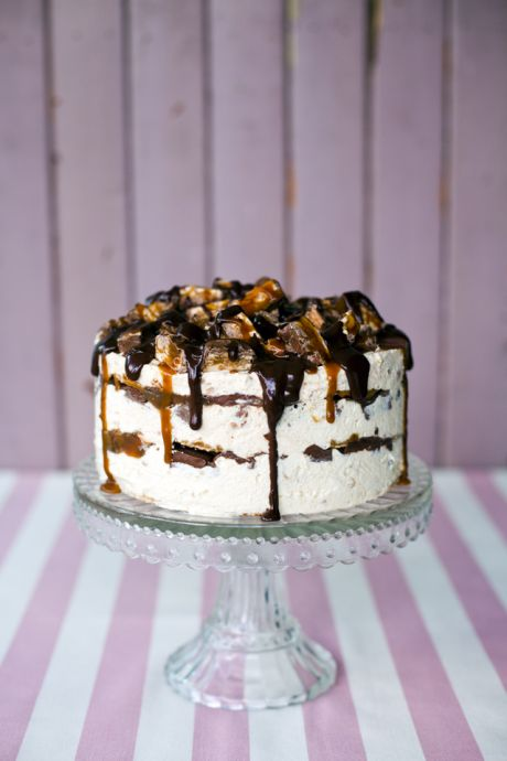 Snickers Ice-Cream Cake | DonalSkehan.com, If you love chocolate, peanuts, caramel and ice cream, this is definitely the cake for you!