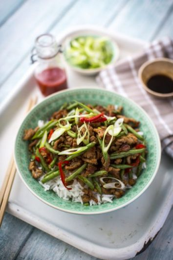 Szechuan Pork & Green Bean Stir Fry | DonalSkehan.com, Quick & Easy Stir-Fry for any day of the week!