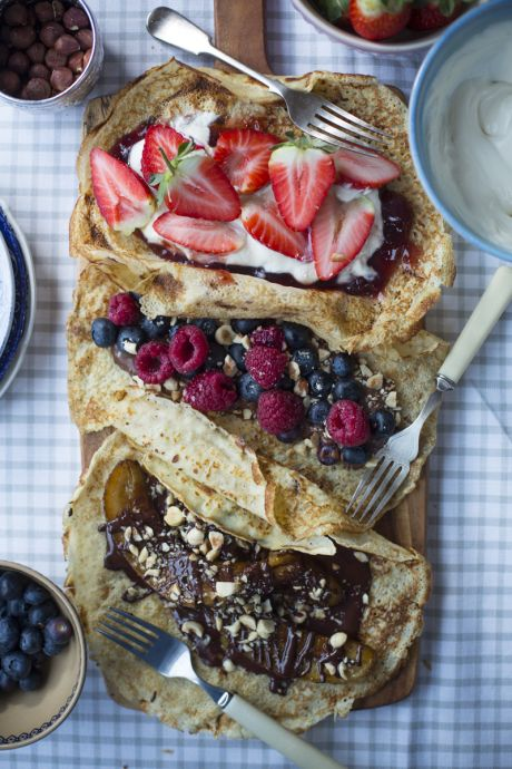 Pancakes Three Ways | DonalSkehan.com, What's better than pancakes? Three kinds of different pancakes!