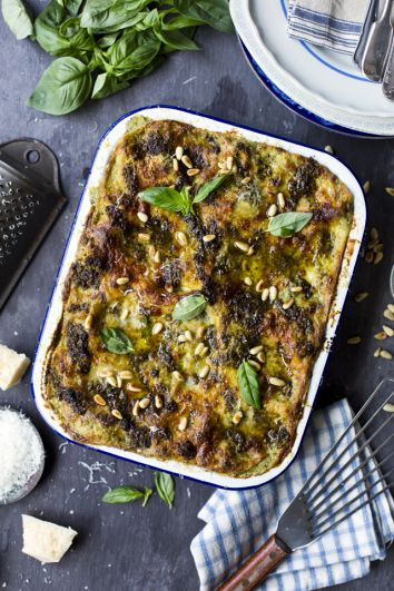 Green Bean, Potato & Pesto Lasagne | DonalSkehan.com, This might be a vegetarian alternative to traditional lasagne but the meat eaters won't be complaining when you serve this up!