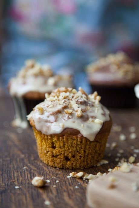 Maple Glazed Spiced Pumpkin Muffins   DonalSkehan.com, A sweet and warmly spiced autumnal treat.