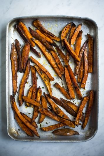 Herby Sweet Potato Chips | DonalSkehan.com, Sweet and spicy handmade fries, the perfect side!