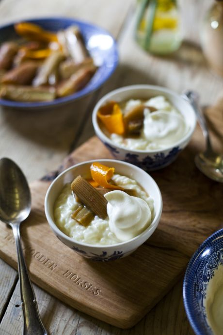 Rhubarb and Orange Rice Pudding | DonalSkehan.com, An old fashioned treat that is comforting and delicious!