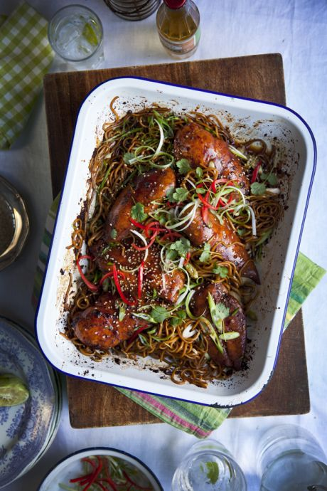 Saturday Night Teriyaki Chicken | DonalSkehan.com, A fuss-free one-tray dinner, perfect for the weekend.