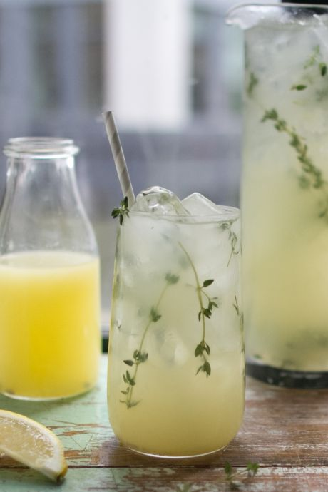 Thyme Lemonade | DonalSkehan.com, Great on its own, even better with a splash of booze added!
