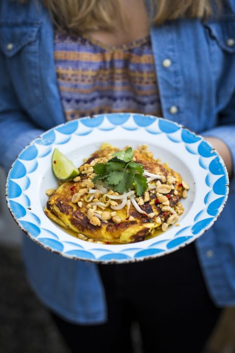 Thai Breakfast Omelette | DonalSkehan.com, This fresh, filling omelette recipe will put a pep in your step!