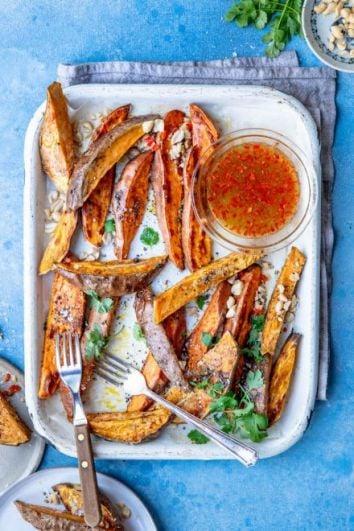 Thai Style Roast Sweet Potatoes | DonalSkehan.com
