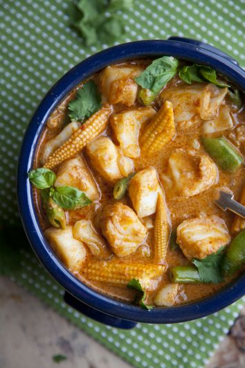 Thai Red Fish Curry | DonalSkehan.com, A nice change from the usual chicken version.
