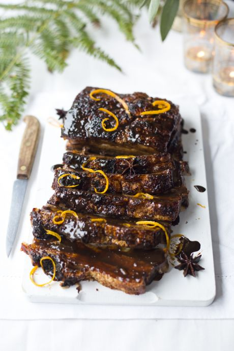 Dark & Sticky Glazed Pork Belly | DonalSkehan.com, Deliciously moist meat, brushed with warm citrus flavours!