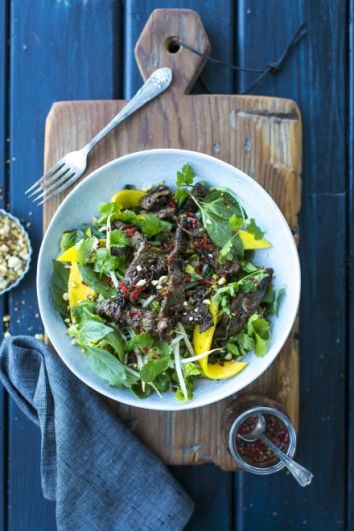 Vietnamese Beef & Mango Salad   DonalSkehan.com, A fresh & vibrant beef salad perfect for summer.
