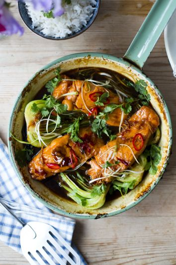 Vietnamese Caramel Salmon   DonalSkehan.com, A delicate, sweet and sticky dish!