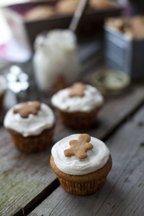 Gingerbread Muffins with Cinnamon Cream Cheese Frosting | DonalSkehan.com, Two treats in one... It is Christmas after all!