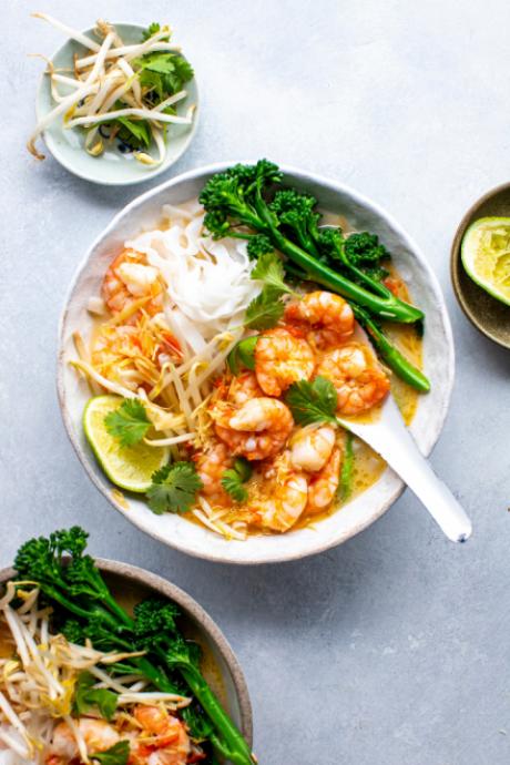 Hot & Sour Prawn Noodle Soup | DonalSkehan.com