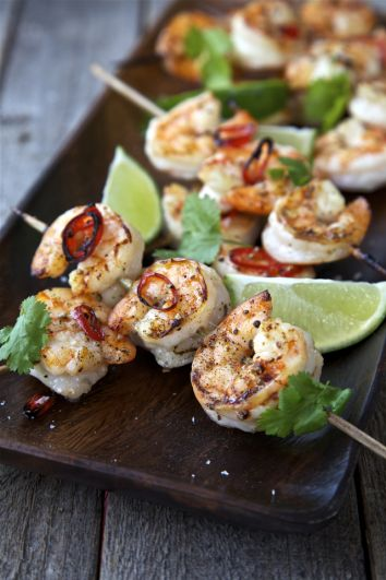 Honey Chilli Prawn Skewers | DonalSkehan.com, Time for a new addition to BBQ parties!
