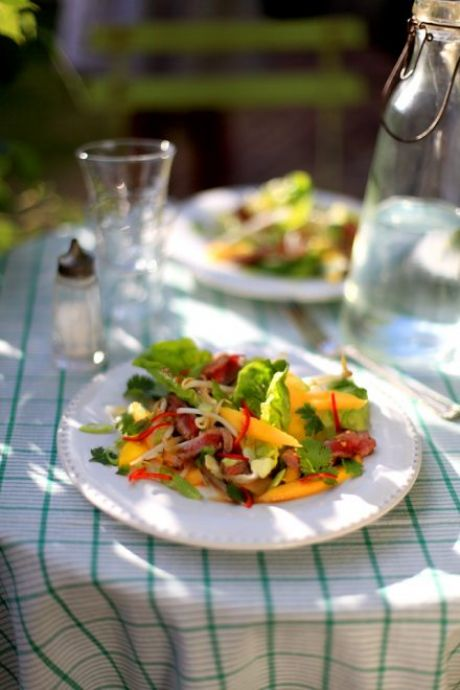 Private: Thai Beef and Mango Salad | DonalSkehan.com, A fresh & zingy summer salad with exciting Thai flavours!