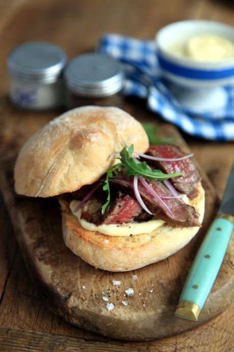 Mini Rustic Steak Sandwiches | DonalSkehan.com, Proper weekend sandwich - only improved with a side of chips!