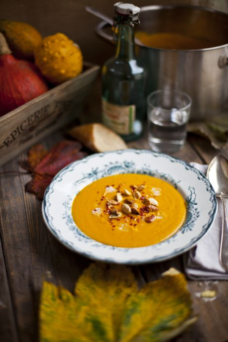 Roast Pumpkin, Coconut and Chilli Soup | DonalSkehan.com, A comforting soup, perfect for the colder months.