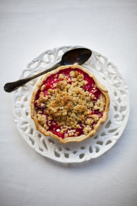 Mini Rhubarb Crumble Tarts | DonalSkehan.com, Brilliant individual summer desserts.