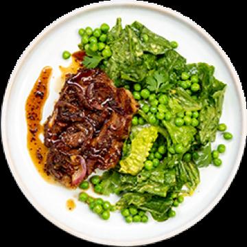 Lunch - Maple Apple Pork & Green Pea Caesar Salad