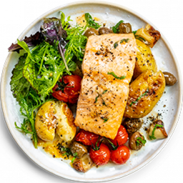 Dinner - Oven Roasted Salmon Fillets with Roast Tomatoes