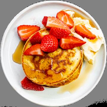 Snack - Lemon and Poppyseed Pancakes - Low Cal
